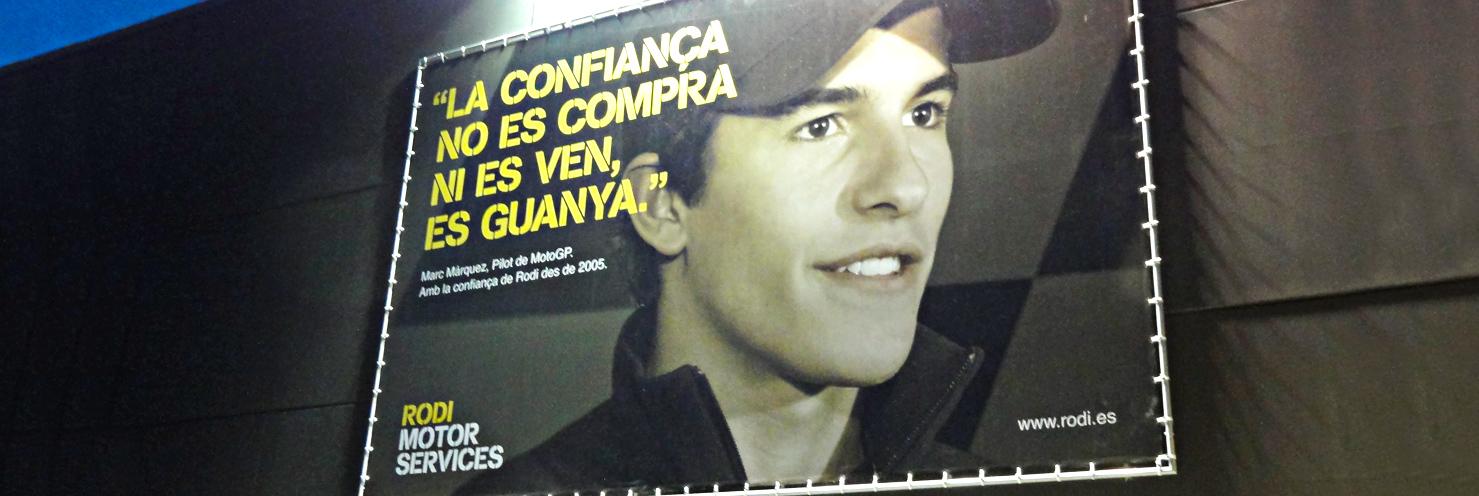 valla publicitaria Marc Marquez